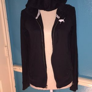 Black pink jacket